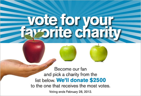 Vote for your favorite charity